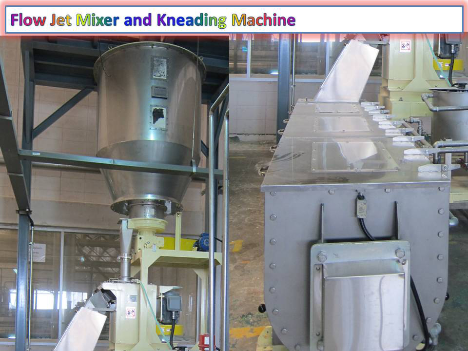 Flow Jet Mixer and Kneading Machine