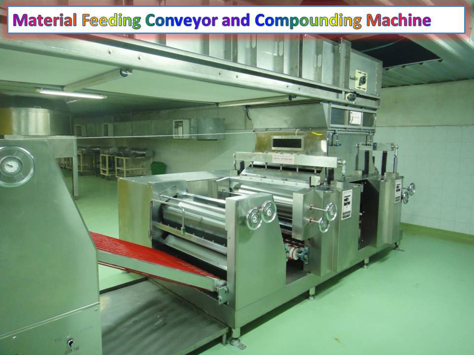 Material Feeding Conveyor and Compounding Machine